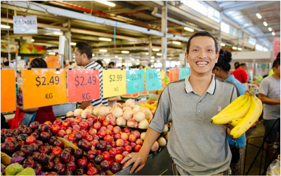 The famous Dandenong Market is a great example of small businesses at work